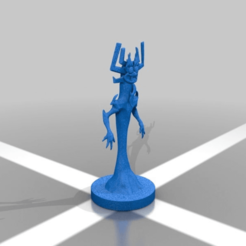 Download free 3D printing templates Aku from samurai jack, Shinokez
