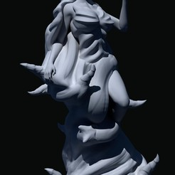Shadow_lady02.jpg Download free STL file Shadow lady witch • 3D printing design, Shinokez