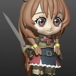Descargar archivos STL gratis Chibi Raphtalia - Tate no yuusha Anime, Shinokez