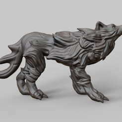 untitled.68.jpg Download free STL file Old wolf • Object to 3D print, Shinokez