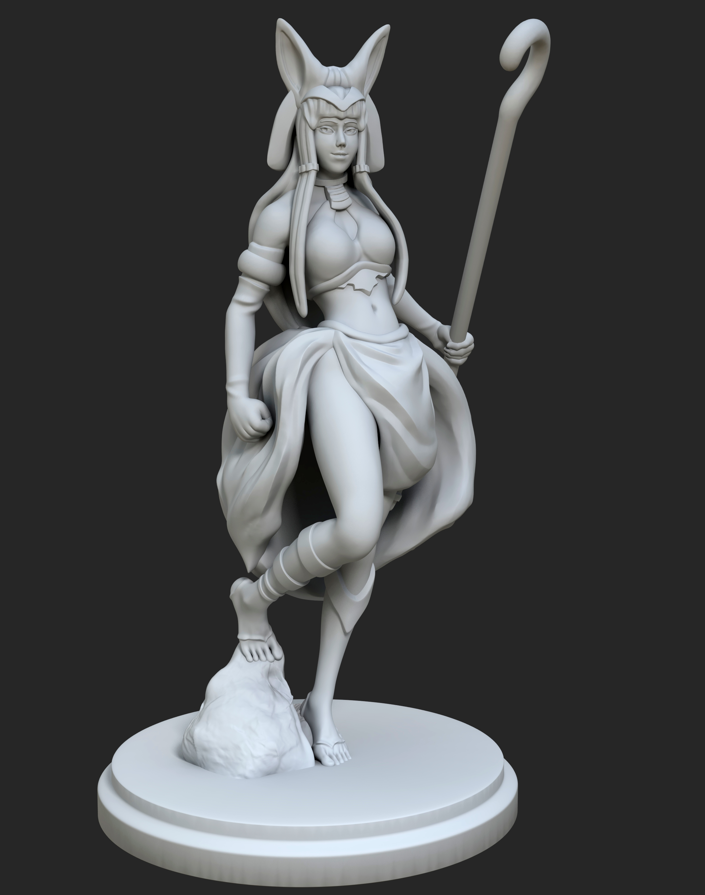 Rameses_HD_01.jpg Download free STL file Egyptian Goddess • 3D printable object, Shinokez