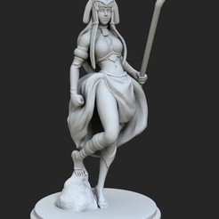 Download free 3D printing templates Egyptian Goddess, Shinokez
