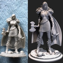 Download 3D printing templates Red sonja fanart, Shinokez
