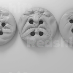 Download 3D printer model Halloween Buttons, frankvalouch