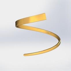 Download 3D printer model Spiral Wrist cuff, ricardoagv11