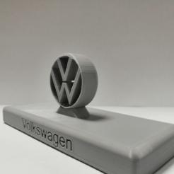 Descargar archivo 3D gratis Logotipo de Volkswagen ( vw), Mickael01