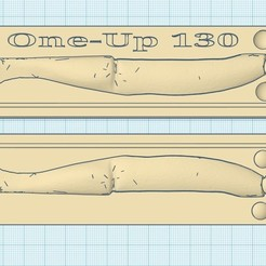 one up 130 a.jpg Download STL file mould lure one-up 130mm • 3D printable model, fullpowerfishing