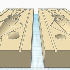 moule poulpe 1.jpg Télécharger fichier STL MOULE calamars de 140MM • Objet imprimable en 3D, fullpowerfishing