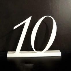 Descargar STL Número 10 con pie, clauglow