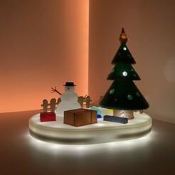IMG_1697.JPG Download free STL file Christmas Night Lamp • 3D printer design, EP3D