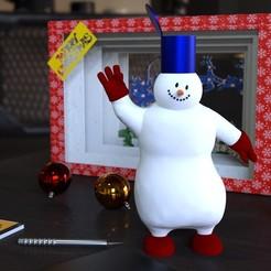 Descargar modelo 3D Albi el muñeco de nieve - albi lumiukko, CapAwsome