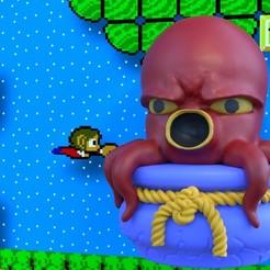 AlexKidd_octopus.jpg Télécharger fichier STL Alex Kidd Poulpe • Plan à imprimer en 3D, CapAwsome