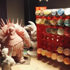 Descargar archivo 3D Pintura al aire libre Vallejo V3 - 36 botellas (extensible), CapAwsome