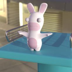 Rabbid.png Download STL file Rabbids goes trampoline • 3D printing template, CapAwsome