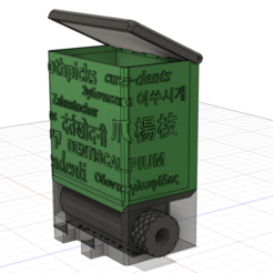 multilingual toothpick dispenser.png Download STL file Multilingual toothpick dispenser • Design to 3D print, Shaeroden