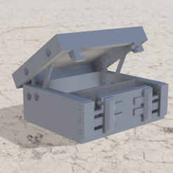 Download 3D printing models DND treasure box slide latch lever hinge., Shaeroden