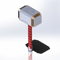 Mjolnir.JPG Download STL file Mjolnir (Thor) • 3D printing object, lucascarpi88