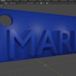 MARIA.png Télécharger fichier STL gratuit Chaîne de clés • Design à imprimer en 3D, boris98