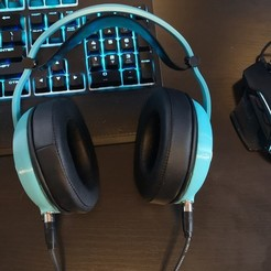 Printable gaming headphones.jpg Download STL file head(amame), 3D Printable Headphones! • 3D print model, VectorFinesse