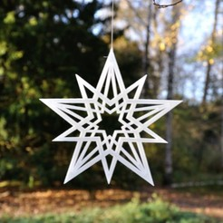 Star1_web.JPG Download STL file Star Decoration • Template to 3D print, meteoGRID