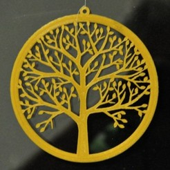 Win_Deco_Tree_01.JPG Download STL file Window Decoration with tree • 3D printer object, meteoGRID