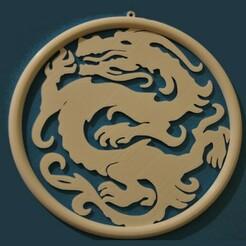 Win_Dec_Dragon_web.JPG Download STL file Dragon Window Decoration • 3D printer template, meteoGRID