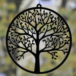 Win_Pic_Tree_01.JPG Download STL file Window decoration with tree • 3D printable design, meteoGRID