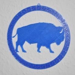buffalo_01.JPG Download STL file Buffalo Window Decoration • 3D printer template, meteoGRID