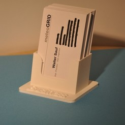 Download 3D print files Business Cards Stands, meteoGRID