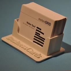 Cards_06_OK.JPG Download STL file Business Cards Stands • 3D printing model, meteoGRID