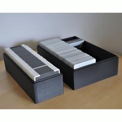 Download 3D printer model Boxes to store slides,Dias, meteoGRID