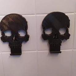 porte serviette tete de mort.jpg Download STL file death's head towel rails • Model to 3D print, mickeyanarchiste