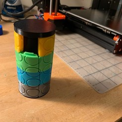 Download free STL file Cylinder 15 puzzle • Template to 3D print, nickcholy