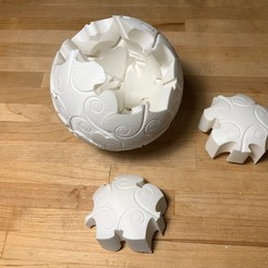 Download free STL file Spherical Jigsaw Puzzle • 3D print template, nickcholy