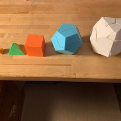 Download free STL file All Five Platonic Solids Puzzle • 3D printer model, nickcholy
