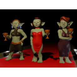 Descargar Modelos 3D para imprimir gratis Goblin PartyGirls, m0rgen-muffel