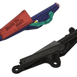 1.png Télécharger fichier STL MT07/FZ07 MRA régulateur de pare-brise (jusqu'en 2017, pas de 2018+) • Design pour impression 3D, MaD