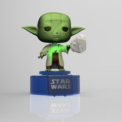 Download 3D printer templates YODA FUNKO POP, nandonotario