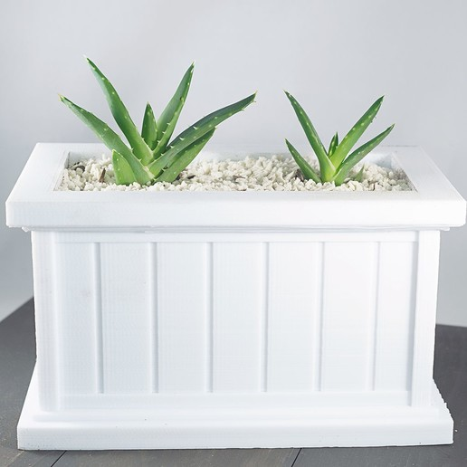 Download free 3D printing templates Modern Rectangle Planter, MikeFiveTango