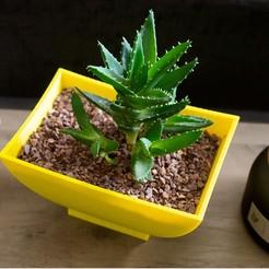 YellowPlanter3.jpg Télécharger fichier STL gratuit Jardinière d'inspiration japonaise • Plan pour impression 3D, MikeFiveTango