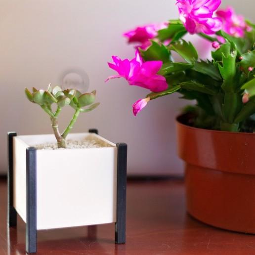 Download free STL file Modern Square Planter Box, MikeFiveTango