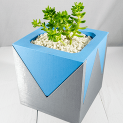 Download free STL file Modern V Planter, MikeFiveTango