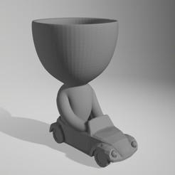 bob en auto.jpg Download STL file Robert by car • 3D print object, Xlaio