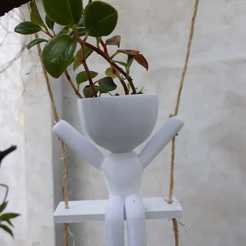 WhatsApp Image 2020-11-01 at 9.47.52 PM.jpeg Download STL file Robert plants sitting in a hammock • 3D printable object, Xlaio