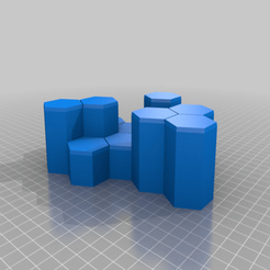 "Descargar archivos 3D gratis Battletech Hex Hills ""Foothills #1"", Thunderhead_Studio"