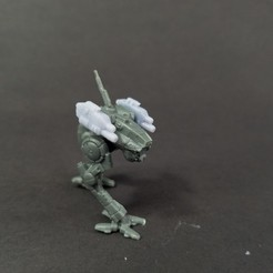 Download free 3D printer designs Battletech Locust Variant Mods (1E, 1S, 1M), Thunderhead_Studio