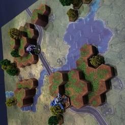 Télécharger fichier STL gratuit Battletech Grasslands #2 Hex Hills, Thunderhead_Studio