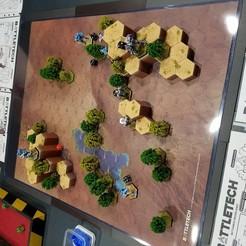 Imprimir en 3D gratis Desierto de Battletech #2 Hex Hills, Thunderhead_Studio