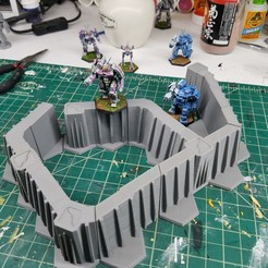 Download free 3D printer templates Battletech Hex Walls/Towers, Thunderhead_Studio