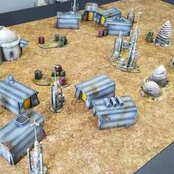"20200507_144343_1.jpg Download free STL file Star Wars: Legion Terrain - Imperial resettlement camp ""Tarkin Town"" • 3D printable object, Thunderhead_Studio"